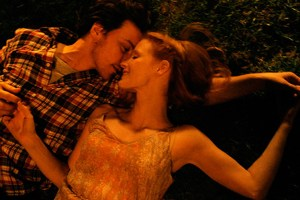 "James McAvoy and Jessica Chastain in ""The Disappearance of Eleanor Rigby"""