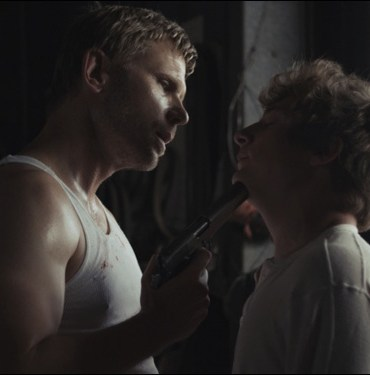 "Mark Pellegrino and Jeremy Allen White in Zeke and Simon Hawkins' ""We Gotta Get Out of This Place"""