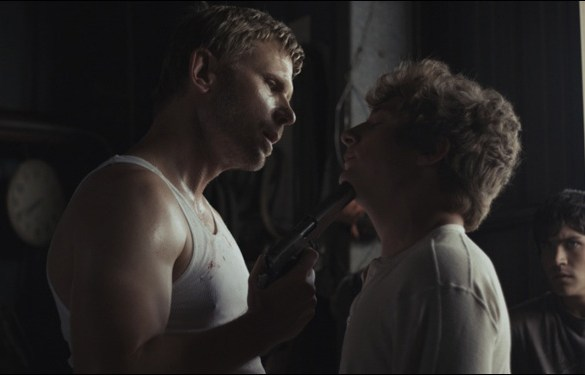 """Mark Pellegrino and Jeremy Allen White in Zeke and Simon Hawkins' """"We Gotta Get Out of This Place"""""""
