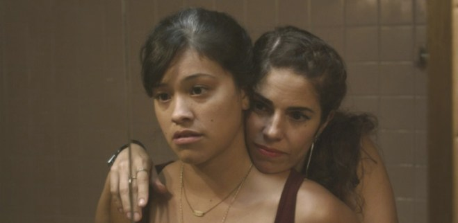 """Gina Rodriguez and Ana Ortiz in Nicole Gomez Fisher's """"Sleeping With the Fishes"""""""