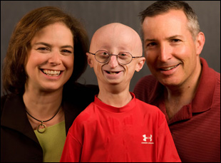 "Leslie Gordon, Sam Berns and Scott Berns in ""Life According to Sam"""