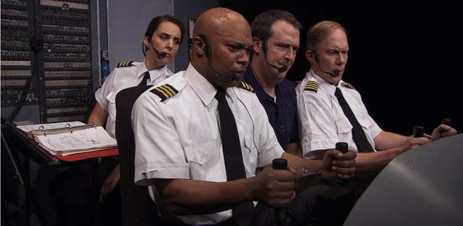 "Irving Gregory, Nora Woolley, Patrick Daniels, Sam Zuckerman in ""Charlie Victor Romeo"""