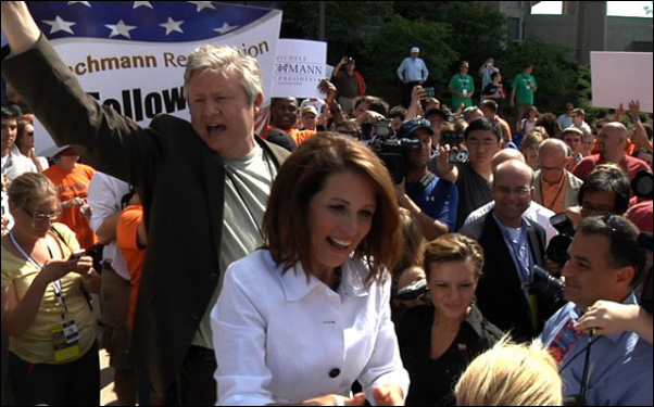 "Marcus and Michele Bachmann in a scene from AJ Schnack's ""Caucus"""