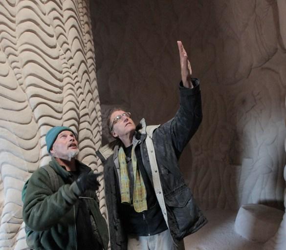 "Ra Paulette and Jeffrey Karoff filming ""Cavedigger"""
