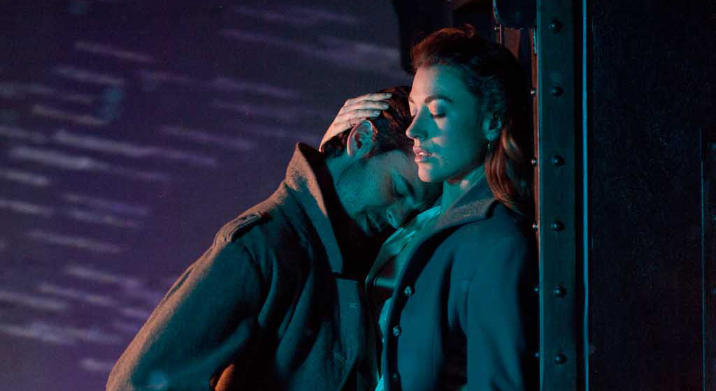 "Natalie Zea and Jeffrey Vincent Parisse in Terri Hanauer's ""Sweet Talk"""
