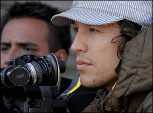 "Cary Joji Fukunaga on the set of ""Sin Nombre"""