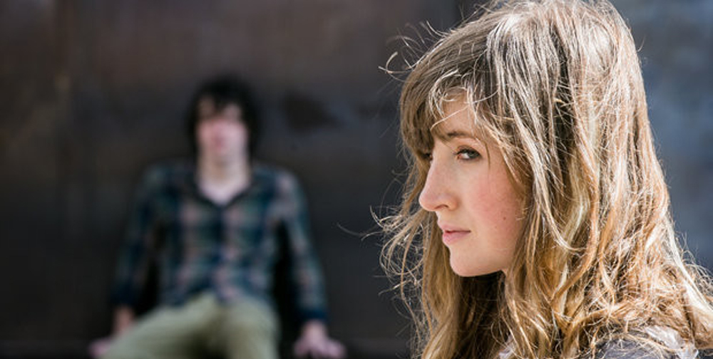 """Kate Lyn Sheil and John Gallagher Jr. in """"The Heart Machine"""""""