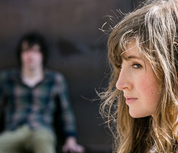 "Kate Lyn Sheil and John Gallagher Jr. in ""The Heart Machine"""