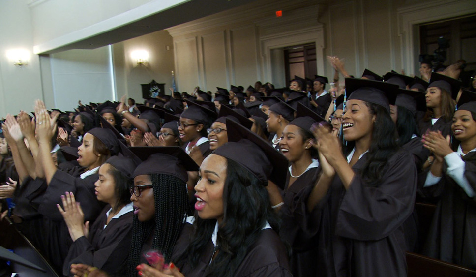 """The graduating class of Spelman College in Atlanta in Andrew Rossi's """"Ivory Tower"""""""