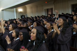 "The graduating class of Spelman College in Atlanta in Andrew Rossi's ""Ivory Tower"""