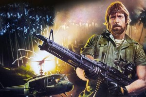 "Chuck Norris in ""Missing in Action"" in ""Electric Boogaloo"""