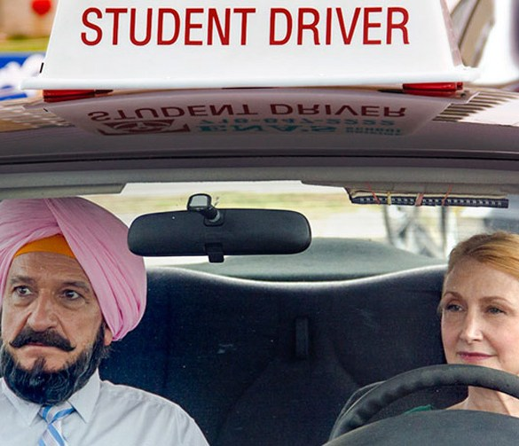 "Ben Kingsley and Patricia Clarkson in ""Learning to Drive"""