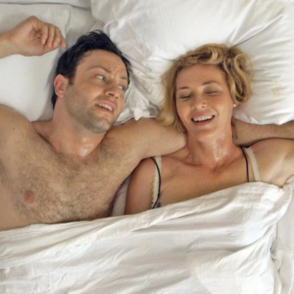 "Jonathan Sadowski and Connie Nielsen in ""All Relative"""