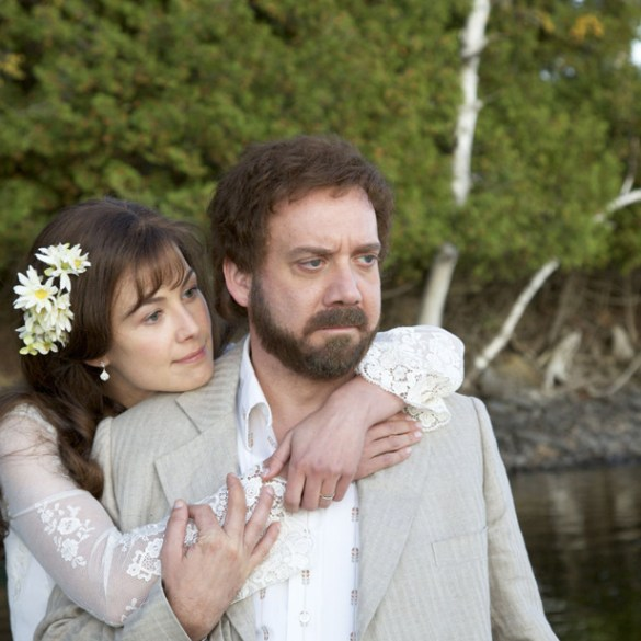 "Rosamund Pike and Paul Giamatti in ""Barney's Version"""