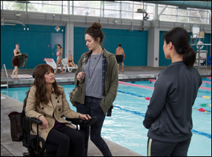 "Emmy Rossum and Hilary Swank in ""You're Not You"""