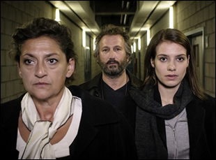 "Annet Malherbe, Sallie Harmsen and Barry Atsma in ""Accused"""