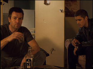 "Ewan McGregor and Brenton Thwaites in ""Son of a Gun"""