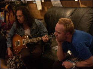 "Kirk Hammett and Lars Ulrich in ""Metallica: Some Kind of Monster"""