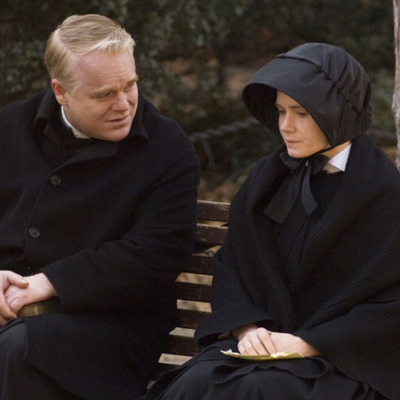 """Phillip Seymour Hoffman and Amy Adams in """"Doubt"""""""