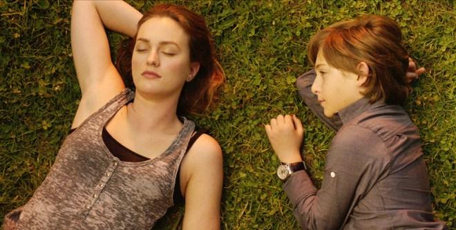 "Leighton Meester and Julian Shatkin in ""Like Sunday Like Rain"""