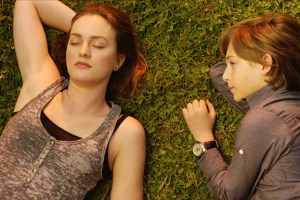 "Leighton Meester and Julian Shatkin in ""Like Sunday Like Rain"""