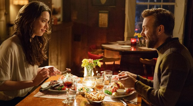 "Rebecca Hall and Jason Sudeikis in ""Tumbledown"""