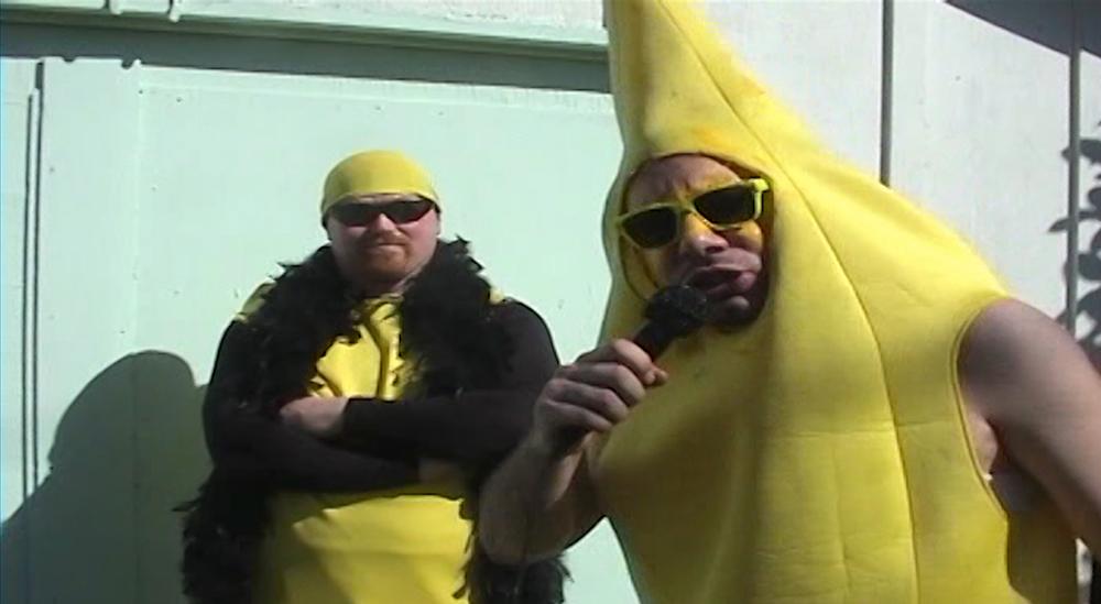 """Eric Keyes and Paul Richards in """"Bodyslam: Revenge of the Banana"""""""