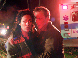 "Joanne Kelly and Tom Bower in ""Runoff"""