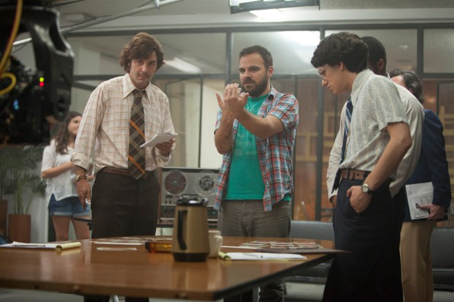 "Kyle Patrick Alvarez on the set of ""Stanford Prison Experiment"""