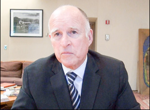 "Jerry Brown in A scene from Alexandra Pelosi's ""San Francisco 2.0"""