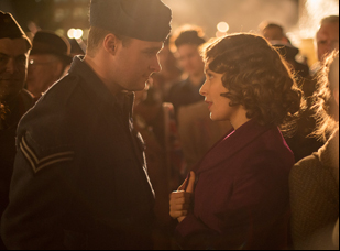 """Jack Reynor and Sarah Gadon in """"A Royal Night Out"""""""