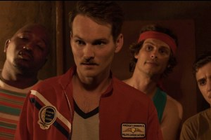 "Adam Nee, Matthew Gray Gubler, Hannibal Burress, Kyle Gallner in ""Band of Robbers"""