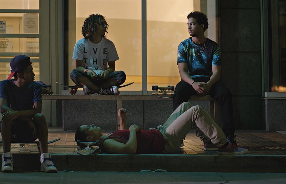 "Ravi Gavron, Moises Arias, Jorge Lendeborg Jr. and Ezri Walker in ""The Land"""