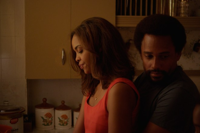 "Sharon Leal and Hill Harper in ""1982"""