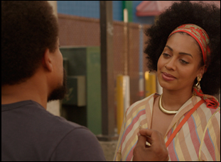 "Hill Harper and La La Anthony in ""1982"""