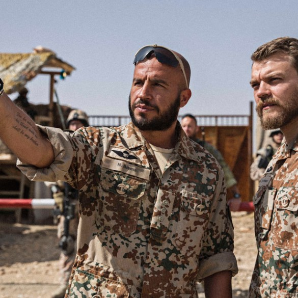 "Dar Salim and Pilou Asbaek in Tobias Lindholm's ""A War"""