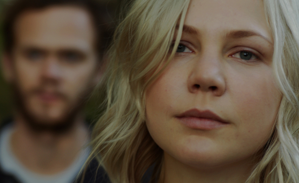 """Adelaide Clemens and Joseph Cross in """"The Automatic Hate"""""""