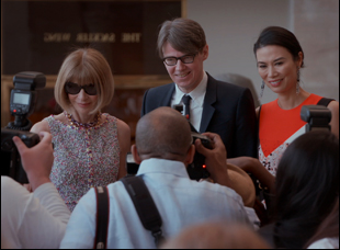 "Andrew Bolton and Anna Wintour in ""First Monday in May"""