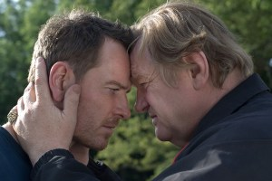 "Michael Fassbender and Brendan Gleeson in ""Trespass Against Us"""