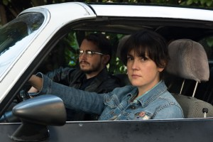 "Melanie Lynskey and Elijah Wood in ""I don't feel at home in this world anymore."""