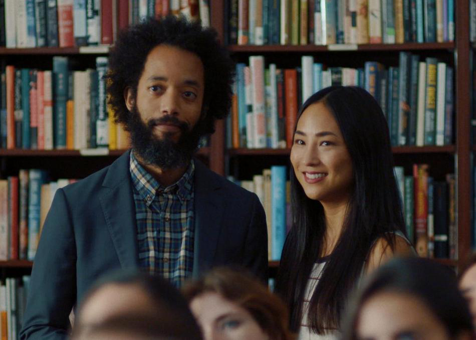 """Wyatt Cenac and Greta Lee in """"Fits and Starts"""""""