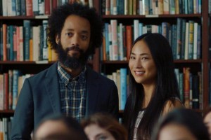 "Wyatt Cenac and Greta Lee in ""Fits and Starts"""