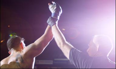 "Joe Carman in ""Cage Fighter"""