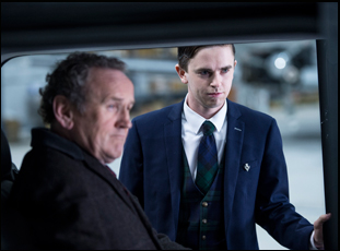 "Colm Meaney and Freddie Highmore in ""The Journey"""