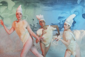 "Eleanore Pienta, Sunita Mani and Tallie Medel in ""Snowy Bing Bongs"""