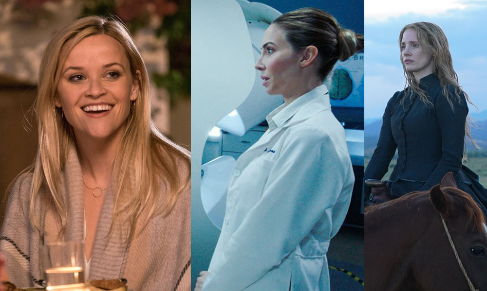 """Reese Witherspoon in """"Home Again,"""" Whitney Cummings in """"The Female Brain"""" and Jessica Chastain in """"Woman Walks Ahead"""""""