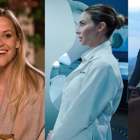 "Reese Witherspoon in ""Home Again,"" Whitney Cummings in ""The Female Brain"" and Jessica Chastain in ""Woman Walks Ahead"""