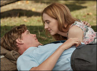 "Billy Howle and Saoirse Ronan in ""On Chesil Beach"""