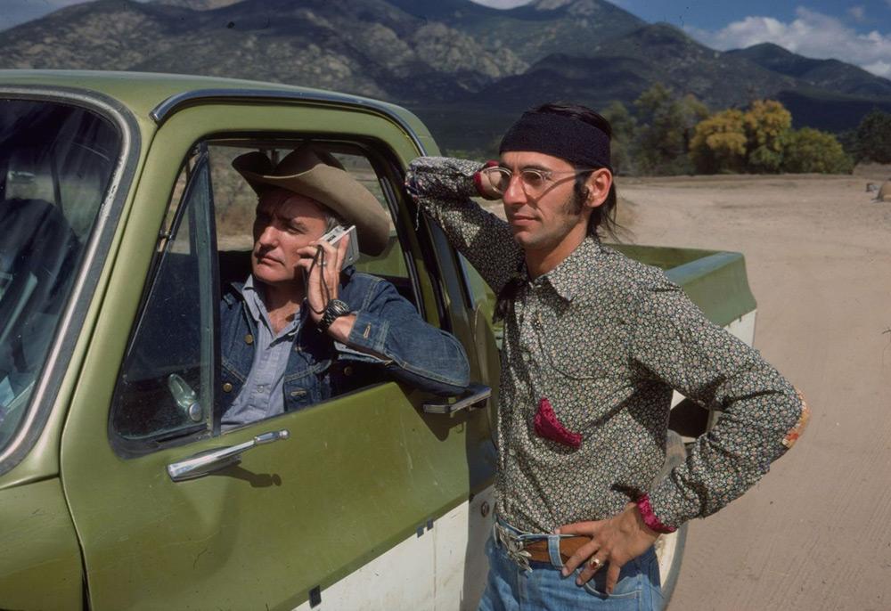 "Satya de la Mantou and Dennis Hopper in ""Along for the Ride"""