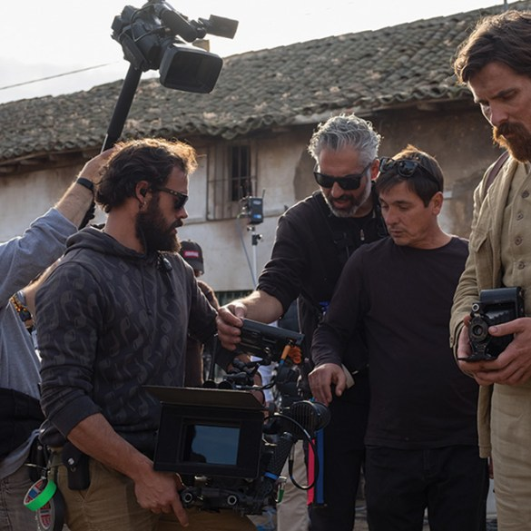 """Joe Berlinger on the set of """"The Promise"""" in """"Intent to Destroy"""""""